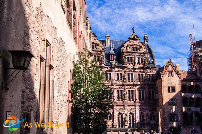 Heidelberg Castle view into main quarters