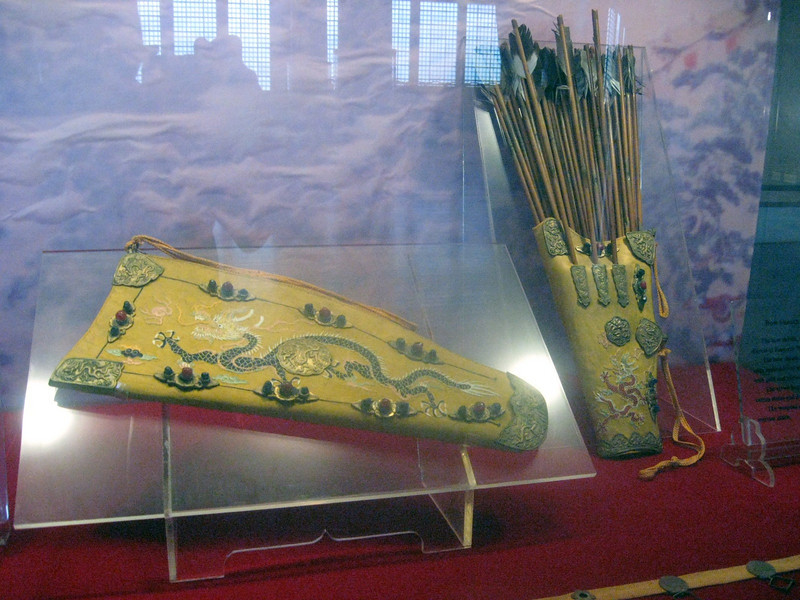 A bow sheath, arrows and arrow bag constructed for Emperor Wan Li