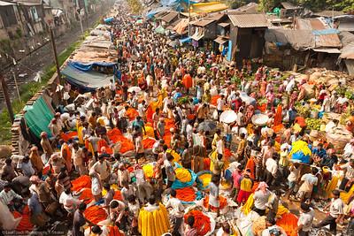 Kolkata - Durga Puja - Flower market