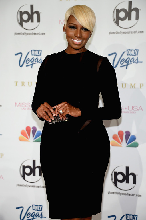 . Actress and pageant judge NeNe Leakes arrives at the 2013 Miss USA pageant at Planet Hollywood Resort & Casino on June 16, 2013 in Las Vegas, Nevada.  (Photo by Ethan Miller/Getty Images)