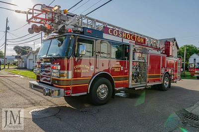06-25-19 Coshocton FD - Grill Fire