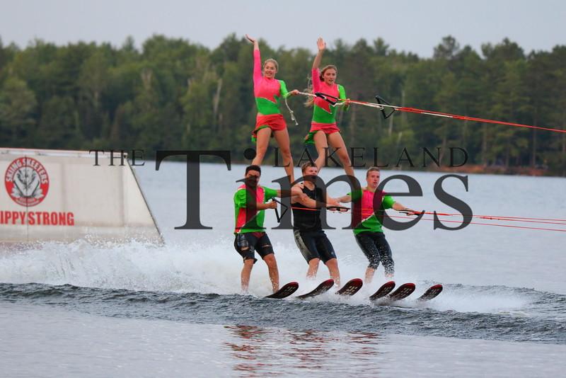 The Manitowish Waters Skiing Skeeters Waterski Show