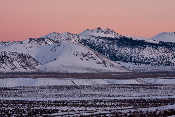 Mono Craters and Mammoth Lakes at sunset and night