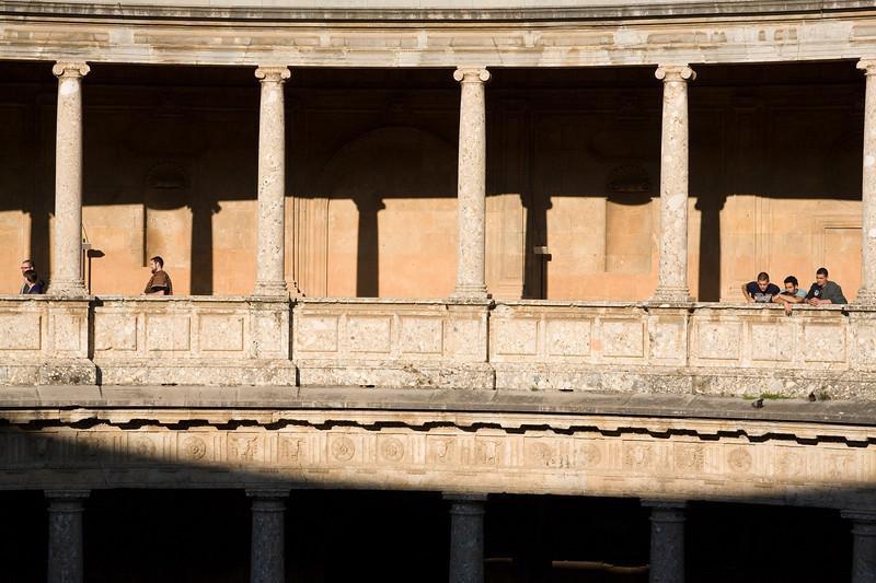 Second floor gallery, Palace of Charles V, Granada, Spain