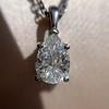 1.11ct Pear Shape Diamond Pendant GIA E VVS2 19
