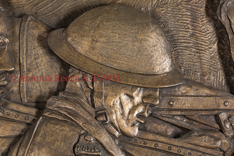 SNWM Frieze detail of Service Personnel, Northern Wall