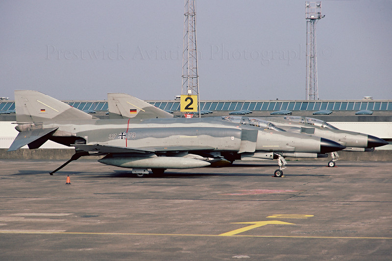 37+79. McDonnell Douglas F4F Phantom 2. WGAF. Prestwick. June 1988.