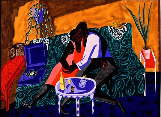 "Jacob Lawrence, ""The Lovers,"" 1946"