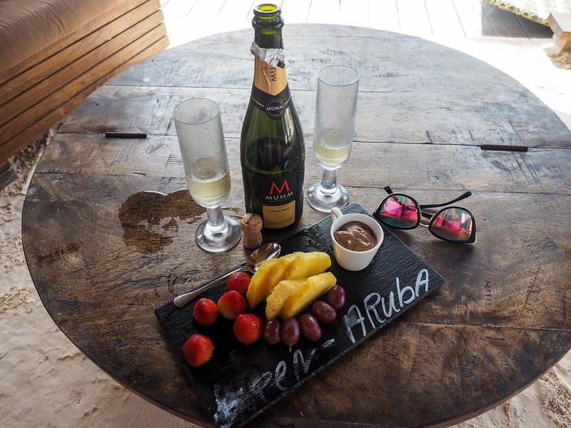 Private cabana treats on Renaissance Private Island in Aruba