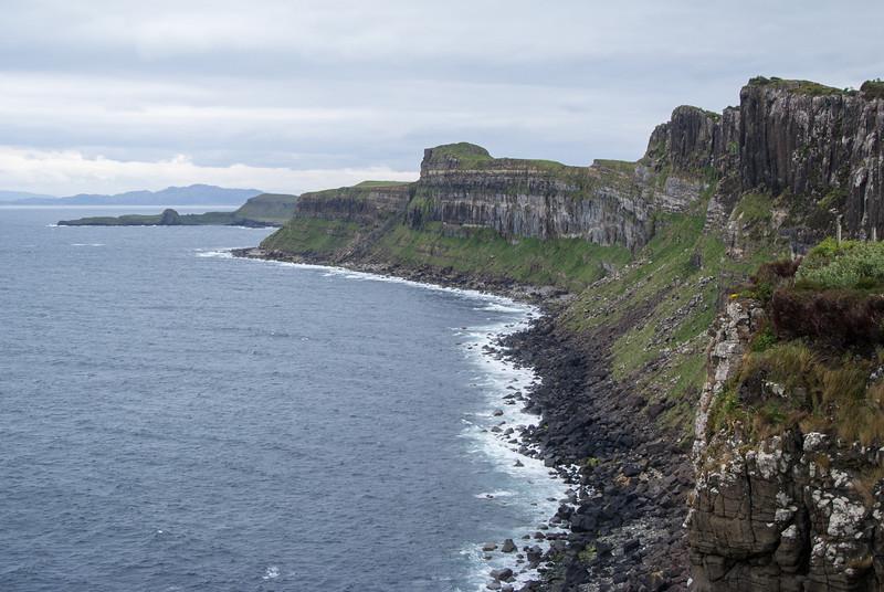 Area is known as Kilt Rock.