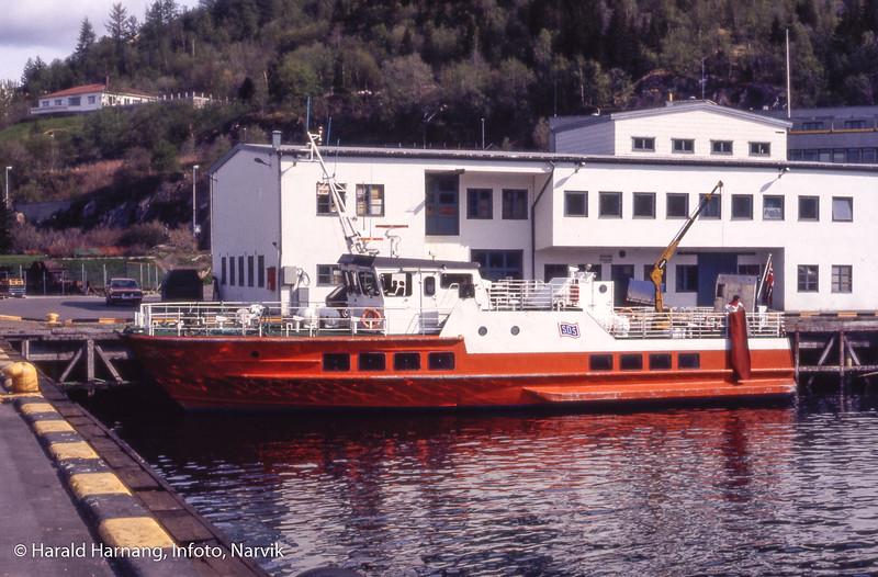 """Muligens """"Øydronningen"""" som ble satt i rute etter at Skogøy ble solgt til Sverige. 1983."""