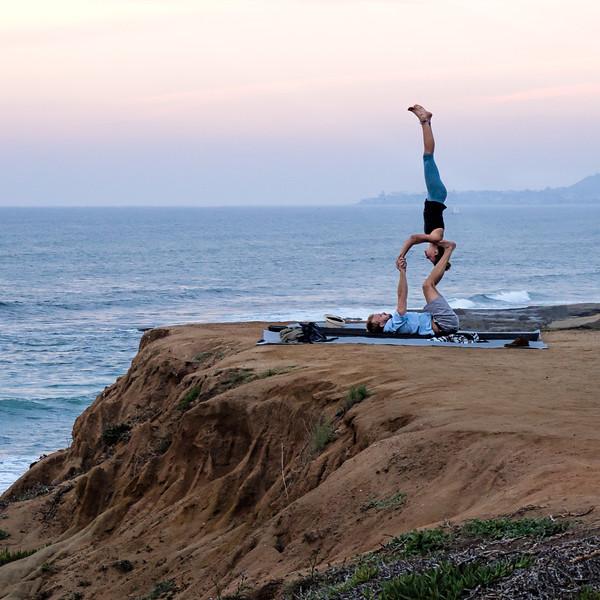 Acrobats, Sunset Cliffs, San Diego, CA (95098-Sq)