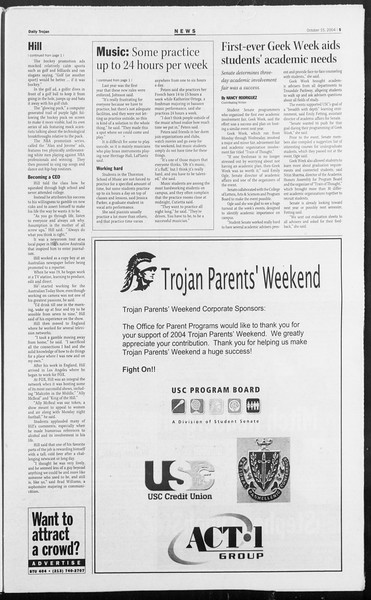 Daily Trojan, Vol. 153, No. 37, October 15, 2004