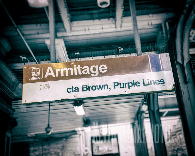 Armitage - CTA Brown, Purple Lines