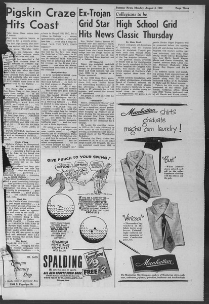 Summer News, Vol. 7, No. 11, August 04, 1952