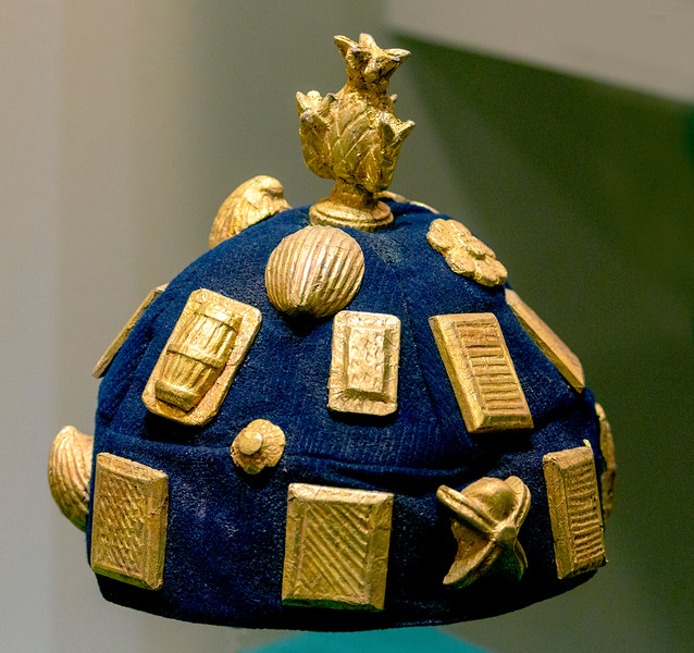African hat laden with gold