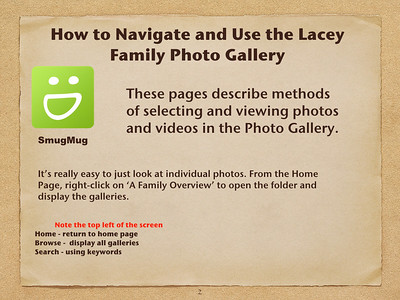 Using the Lacey Family Photo Diary