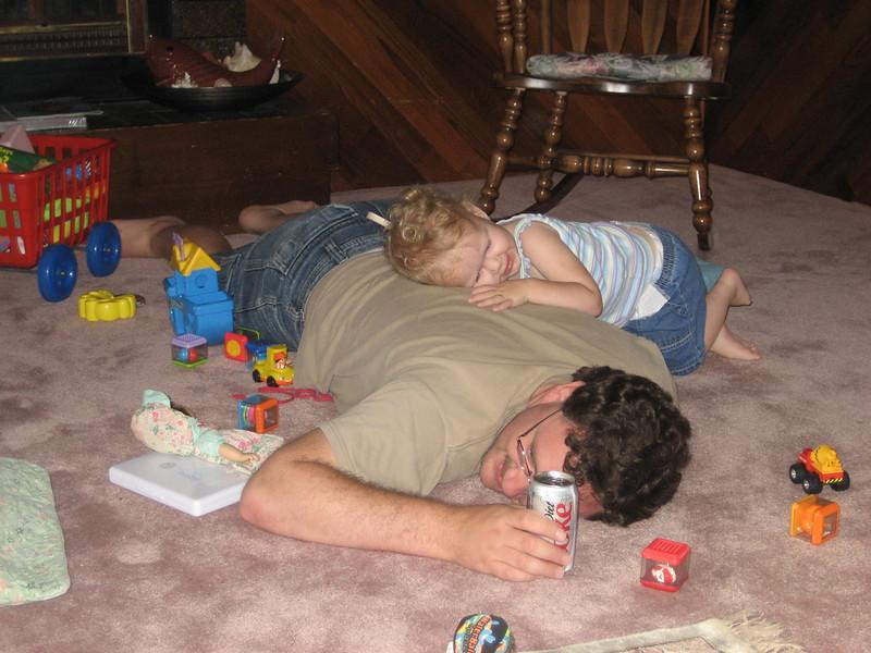 Daddies make good pillows.