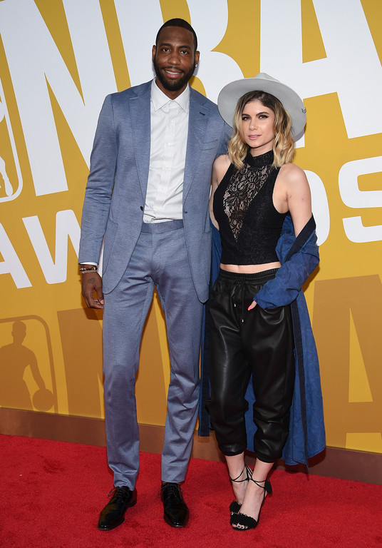. NBA player Rasual Butler, left, and Leah LaBelle arrive at the NBA Awards at Basketball City at Pier 36 on Monday, June 26, 2017, in New York. (Photo by Evan Agostini/Invision/AP)