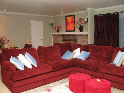 Family Room-before and after painting