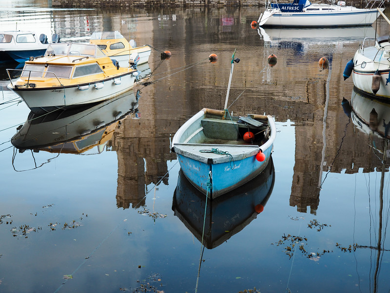 Boats at Caernarfon Castle
