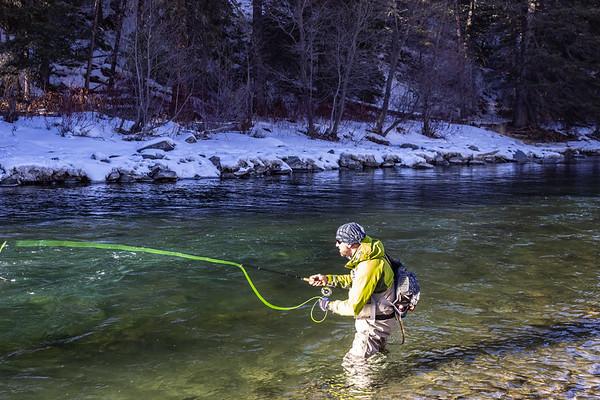 Fly Fishing the Gallatin River, Montana