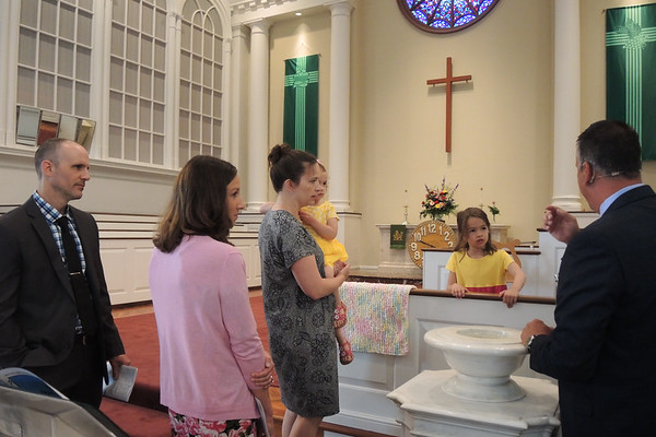 June 10, 2018. Renee Kathleen Patrick is baptized in Rocky River United Methodist  Church