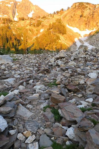Boulder path at Holly Lake