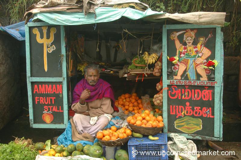 Colorful Fruit Stand - Kodaikanal, India