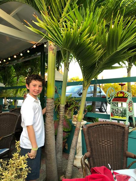 Alex at his favorite restaurant Rozendaels