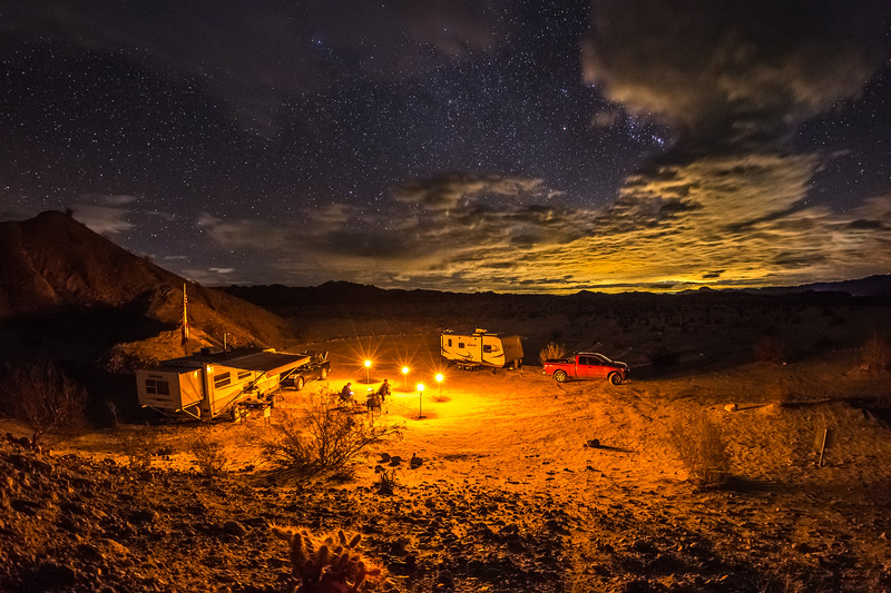 Camping Under the Stars and Clouds in Anza-Borrego