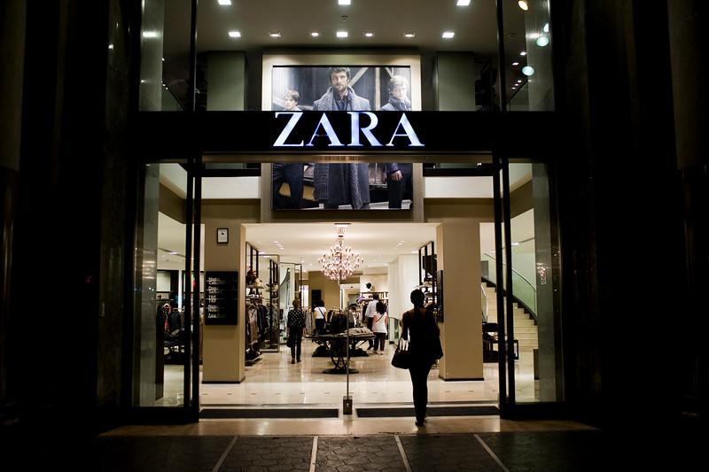 Zara shop on Passeig de Gracia, town of Barcelona, autonomous commnunity of Catalonia, northeastern Spain