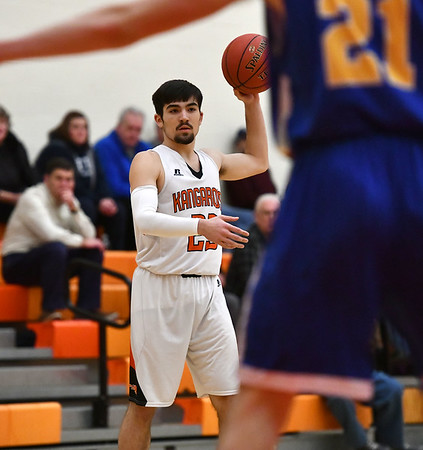 1/28/2020 Mike Orazzi | StaffrTerryville's Sean O'Donnell (23) during Tuesday night's boys basketball game with Housatonic Regional at THS.