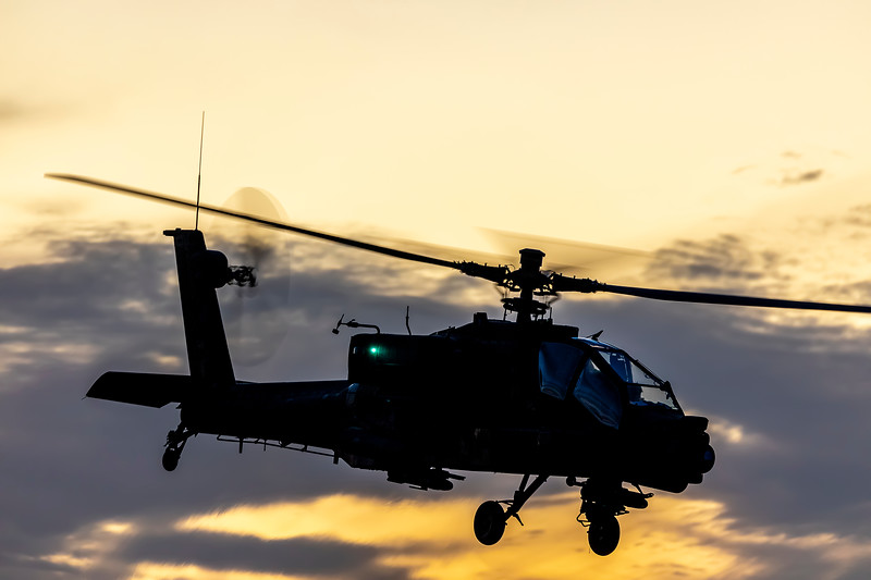 Exercise Wallaby 2019 - Repbulic of Singapore Air Force AH-64D Apaches departing Rockhampton Airport.