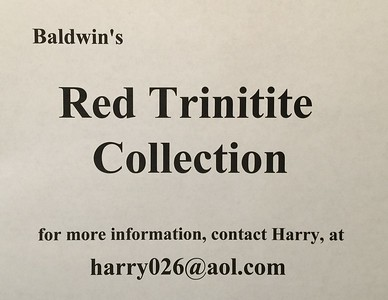 Red Trinitite, Baldwin Collection