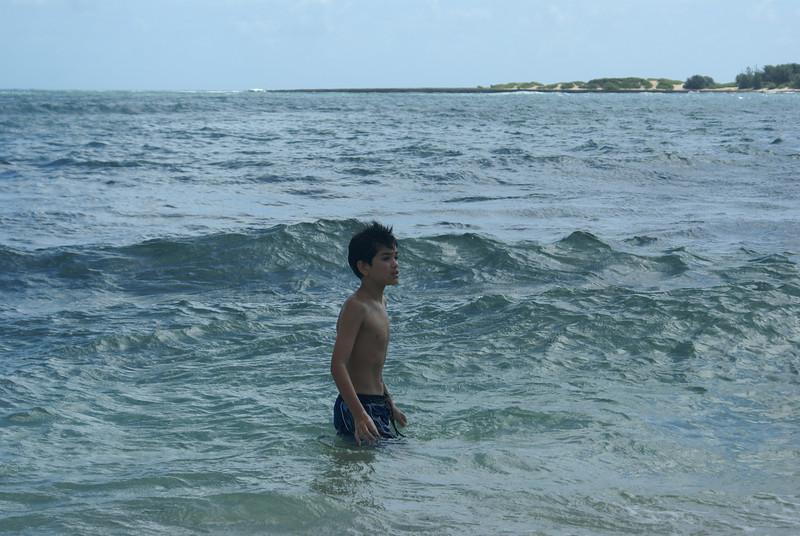Michael in the water