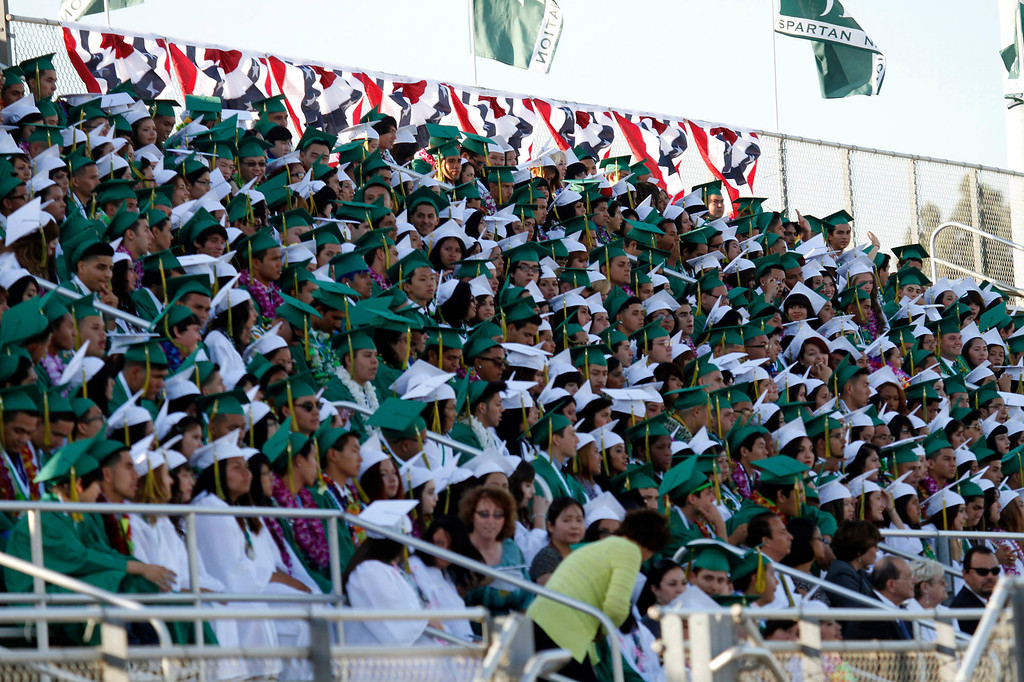 . Graduates during Schurr High School 2013 Commencement Exercises, at Ken Davis Field, at Schurr High School in Montebello, Thursday, June 20, 2013. (Correspondent Photo by James Carbone/SWCITY)