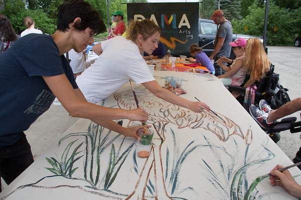 lakeside mural paint with DAMA