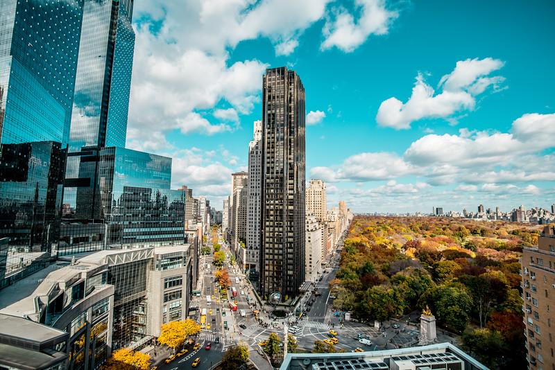 Columbus Circle and Central Park