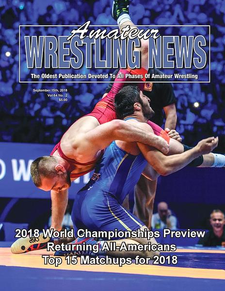 Amateur Wrestling News Cover, Sept, 2018