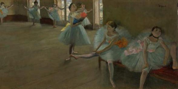 """Description of . """"Danseuses au Foyer"""" (La Contrebasse) by Edgar Degas: $20M-40M. Photo courtesy of humanite.fr"""