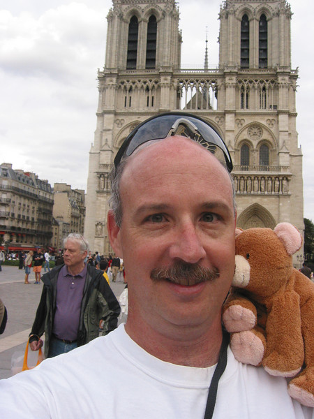 Don & Brown Bear 2 visit Notre Dame