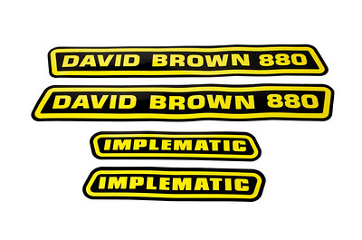 DAVID BROWN 880 IMPLEMATIC BONNET DECAL STICKERS