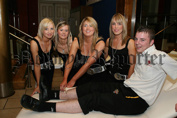 Charity Waxing at the Bank, Laura Toner, Fiona Morgan, Paula Magee and Hazel Gass from (heavenly beauty) who held a Charity Waxing in aid of (CLIC Sargant) Childrens cancer and Leukaemia care in the Bank Bar recently, David Graham was the first volunteer to have a go. 07W37N53