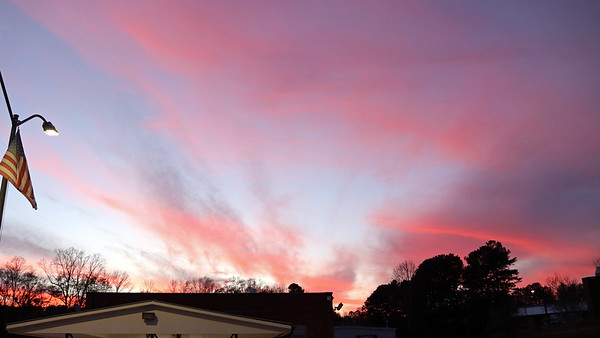 December 3:  Great colors in the sky .  .  .