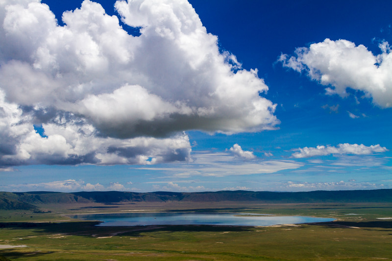 Pond under cloudy sky - East Africa - Tanzania