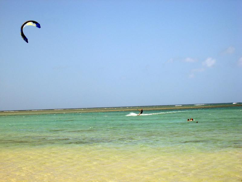 Kite Surfer at Pilaa Bay - Jarassic Park 3
