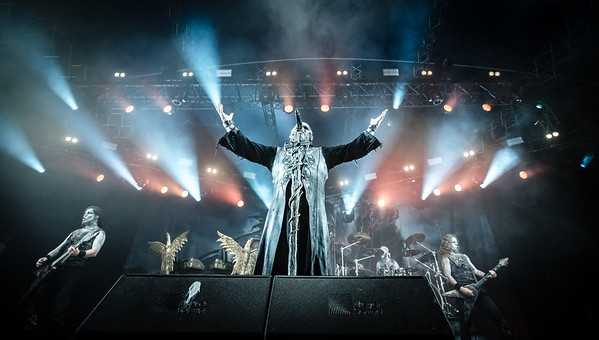 Powerwolf performing at Tons of Rock 2019