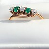 .45ctw Victorian 5 Stone OEC and Emerald Band 12
