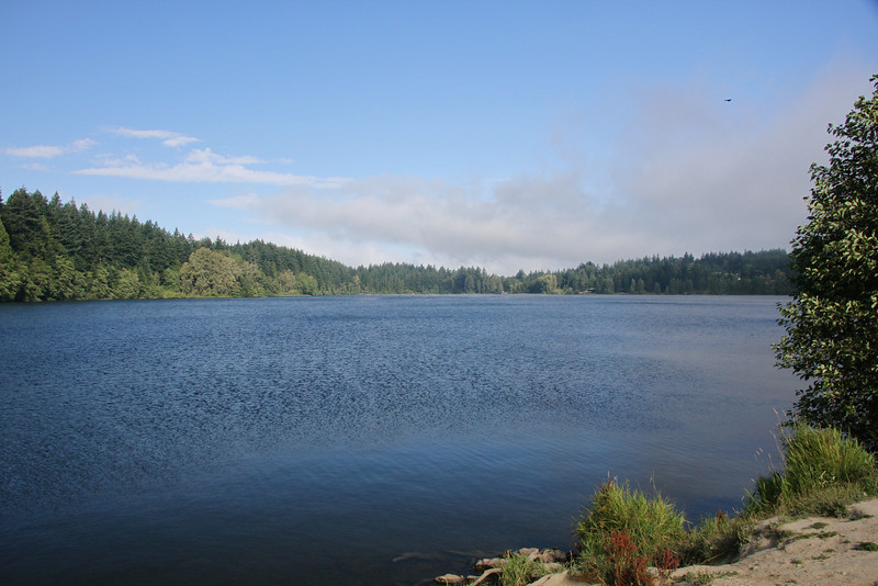 Lake Padden, the lake for Peter's duathalon.